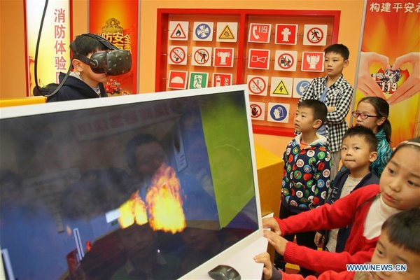 Education Program Launched in E China's Shandong to Help Children Learn About Fire Safety