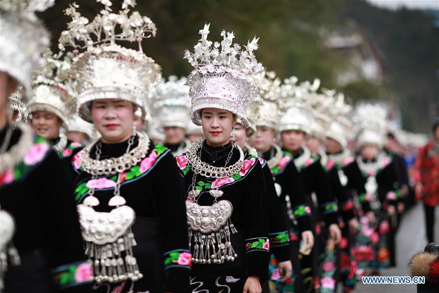 New Year of Miao Ethnic Group Celebrated in SW China's Guizhou