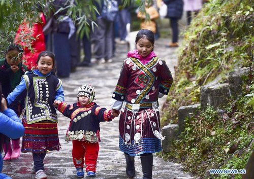 Miao People Mark Traditional Festival in SW China's Guizhou