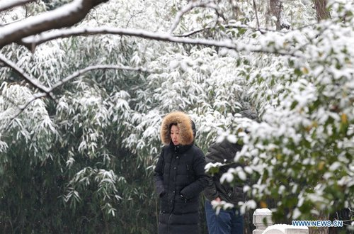 Parts of Shandong Meet Snow