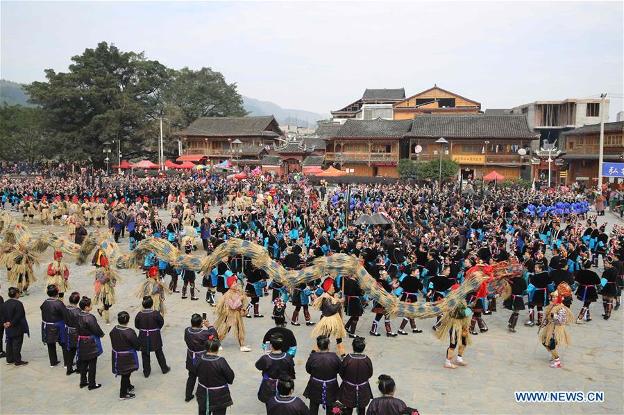 Dong People Commemorate Ancestor on Sama Festival in China's Guizhou