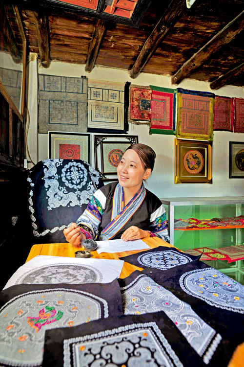 Miao Batiks a Delightful Sight