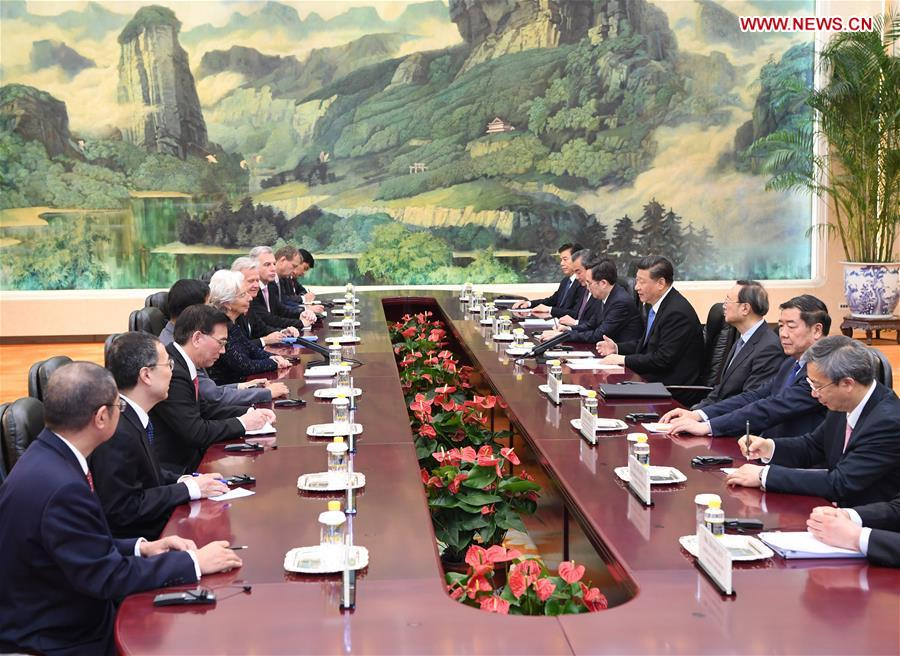 Chinese President Meets IMF Chief