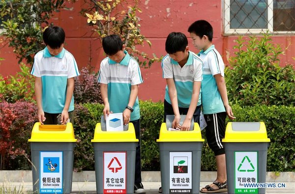Various Activities Held Across China to Raise People's Awareness of Garbage Sorting