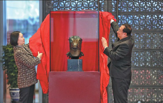 Chinese Zodiac Statue Heads Home