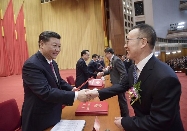 Xi Honors Two Academicians with China's Top Science Award