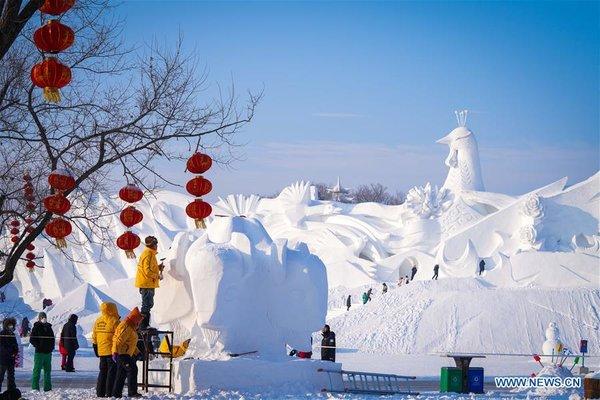 CHINA-HEILONGJIANG-HARBIN-SNOW SCULPTURE COMPETITION (CN)