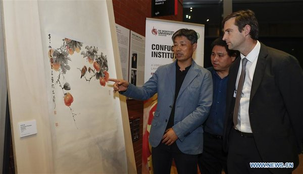 Chinese Paintings Exhibition Opens in Leicester
