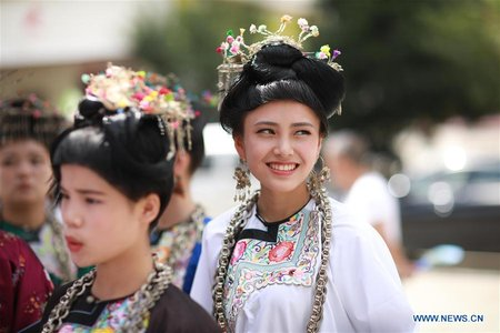 People of Dong Ethnic Group Attend Gathering in SW China