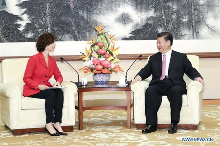 Chinese President Meets UNESCO Director-General Audrey Azoulay